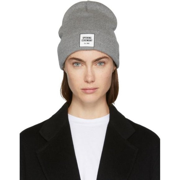 Opening Ceremony Accessories - [NWT] Opening Ceremony Logo Beanie in Gray